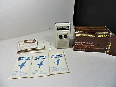MICROSONICS MICROPHONOGRAPH MS 301 Audible Audubon Bird Songs Player with  cards