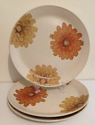 Vintage JOHNSON BROS Australia Dinner Plates Set 3 Autumn Flowers