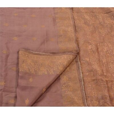 Sanskriti Antique Vintage Saree 100% Pure Silk Pink Woven Fabric Premium Sari