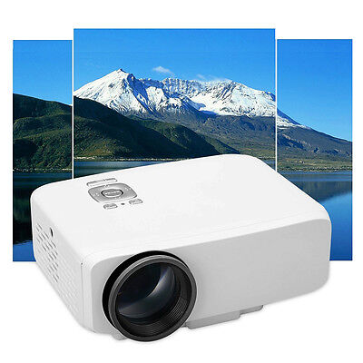 GP9S LCD LED Portable Projector AV IN/SD/VGA/HDMI Home Theater Multimedia Beamer