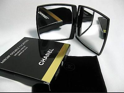 CHANEL Compact Duo Mirror Stylish Gift New Boxed Genuine Normal & Magnified