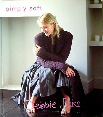 Debbie Bliss Knitting Pattern Book - SIMPLY SOFT -13 Designs for Adults & Babies