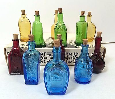 12 Wheaton Glass Miniature Mini Replica Antique Bottle New Jersey in Box F3