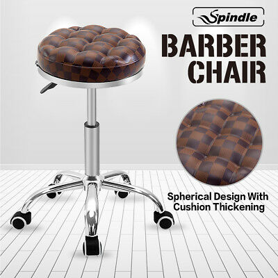 Spherical cushion Salon Stool Barber Massage Hairdressing Manicure brown Plaid