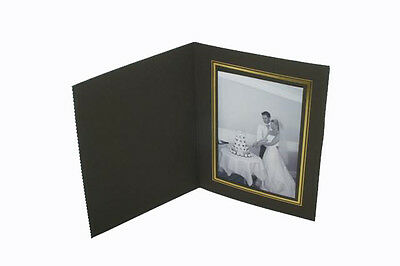 """White with Gold Trim 10 Pack of 8x12/"""" Portrait Slip In Photo Folders// Holders"""