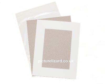 """10x8"""" VALUE Picture Photo Mount Kits. Inc Mounts, Backing Boards and Bags"""