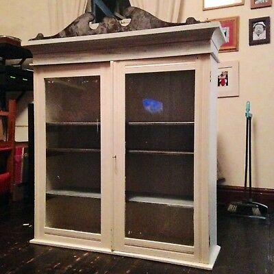 Glass Fronted Display Cabinet - Retro/Shabby Chic/Project