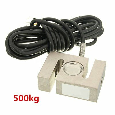 500kg S Type Alloy Steel Weighting Sensor Beam Load Cell Scale 2.95x1.97 inch