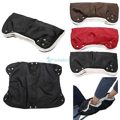 Winter Baby Stroller Pram Golf Warmer Glove Cart Mitten Waterproof Muff Glove US