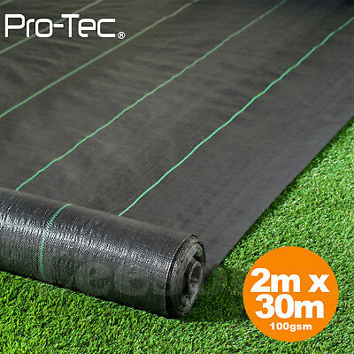 2m x 30m ground cover fabric landscape garden weed control heavy duty membrane