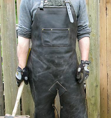 Leather Welding Apron Protective Clothing Carpenter Blacksmith Gardening # 07