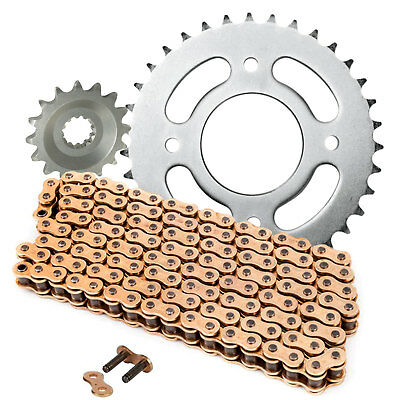 Yamaha YBR 125 2005-2006 Gold Chain and Sprocket Kit Set YBR125