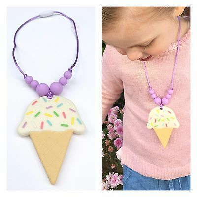 Silicone Necklace for Toddlers or Children - Ice Cream