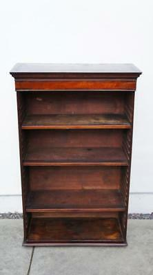 Small Victorian  Mahogany open bookcase adjustable shelves 115 cm h x 71 cm w