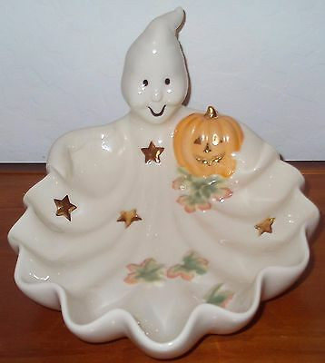 Lenox Occasions Ghost Candy Dish Halloween Collectible