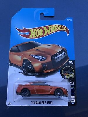 2017 Hot Wheels 17 Nissan GTR Car