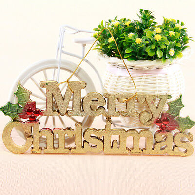 New Merry Christmas Ornaments Festival Party Tree Hanging Letter Decoration XMAS