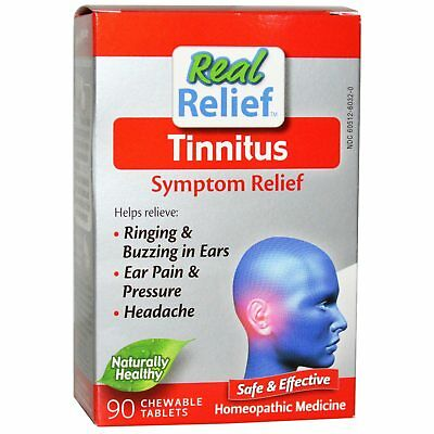 Real Relief Tablets Ring Tinnitus Treatment Ringing/Buzzing Noise Symptoms Pain
