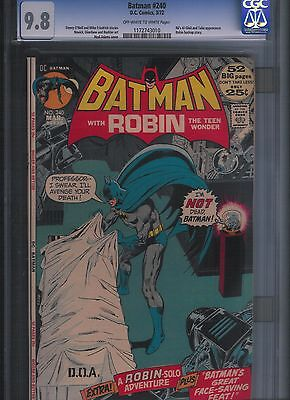 Batman # 240 CGC 9.8  Off White to White Pages. UnRestored.