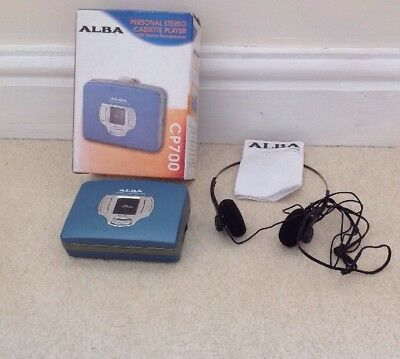 VINTAGE ALBA CP700 Personal Stereo Cassette Player, Walkman, Boxed Working Order