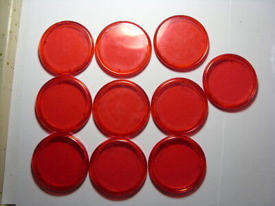 Lot of 10 Empty Red Capsules for $10 Ten Dollar Silver Strike Token
