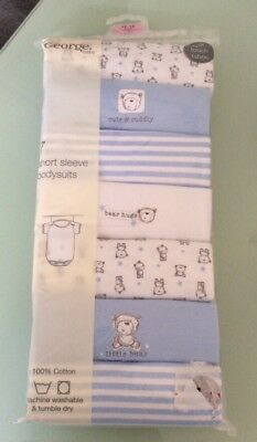 Pack of 7 Short Sleeve Bodysuits age 12-18 Mths BNIP