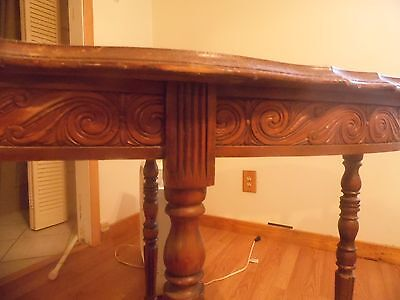Antique wood table-intricate! For restoration