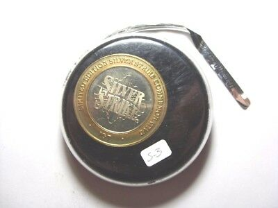 """IGT 2002 G2E """"Hockey Puck"""" Case Silver Strike Limited Edition Token (S3)"""