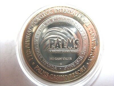 Palms IGT 11th CC&GTCC Convention 2003 NCV Silver Strike Limited Edition Token