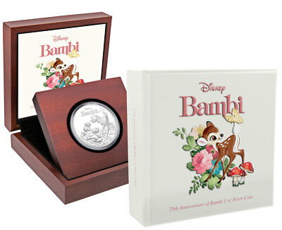 2017 Niue Iconic Disney Bambi 75th Anniv 1 oz Silver Proof $2 Coin OGP SKU48693