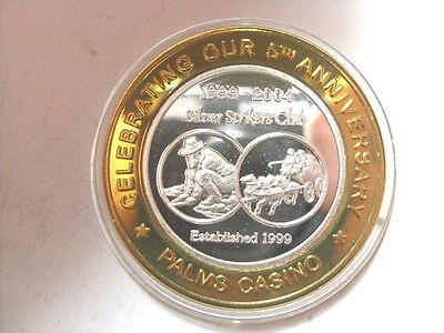 Palms 5th Anniversary 2004 Silver Strikers Club NCV Limited Edition Token (S15)