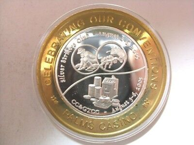 Palms 2005 CC&GTCC Convention Silver Strike Limited Edition Token (S14)