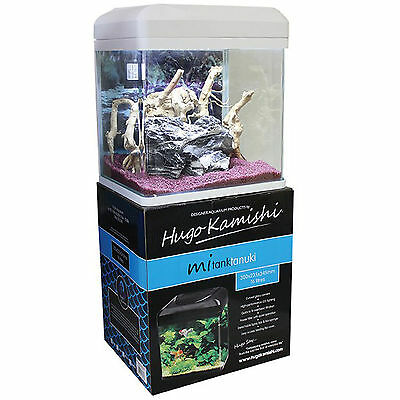 Aquarium Nano Fish Tank Hugo Mitank Tanuki White LED Aquatics New Indoor 16L