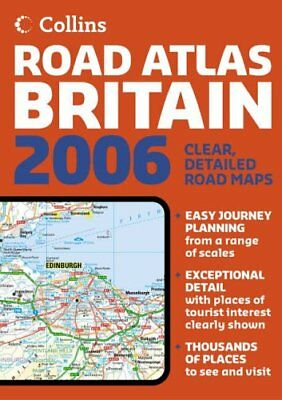Collins Road Atlas Britain Hardback Book The Cheap Fast Free Post