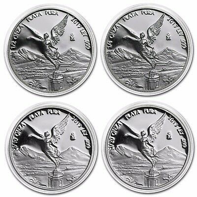 PROOF LIBERTAD - MEXICO - 2017 1/2 1/4 1/10 1/20 OZ Proof Silver Coin in Capsule