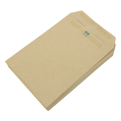 50 C5 Envelopes Manilla Plain 80gsm Self Seal Office A5 Brown Envelope Pack