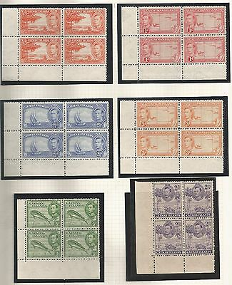 Cayman Islands Selection Of 14 Gvi Fresh Unmounted Mint Mnh Blocks Of 4 See Scan