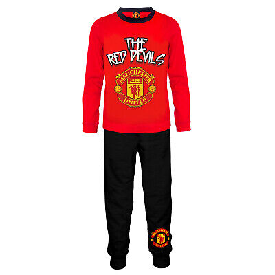 Manchester United FC Official Soccer Gift Boys Toddler Kids Pajamas