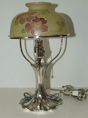 Stunning Antique Mt. Washington Pairpoint Hand Painted Glass Lamp