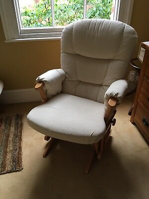 Dutalier Glider Nursing Chair - Cream Colour - Good Clean Used Condition