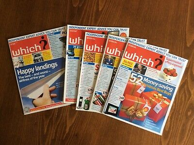 FIVE Months of Which? Magazines 2008 July August September November December