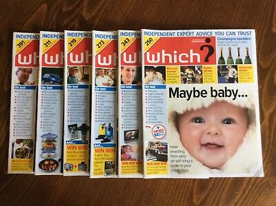 SIX Months Which? Magazines 2006 July August September October November December