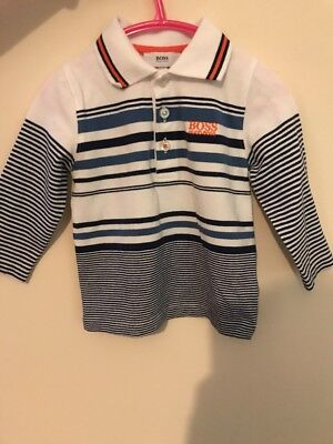 Infants Hugo Boss Long Sleeve Polo 18 Months
