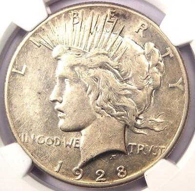 1928 Peace Silver Dollar $1 - NGC XF40 (EF40) - Rare 1928-P Key Date Coin!
