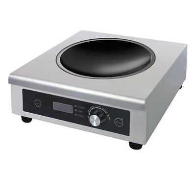 New Chef King BT500D Wok Induction Hob. 3kw - Heavy Duty Commercial Model HOI012