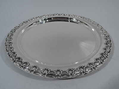 Tiffany Tray - 5765 - Antique Serving Shells Scrolls - American Sterling Silver