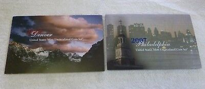 2007 United States Mint Uncirculated Coin Set - P & D