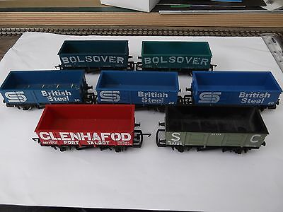7x Hornby Large Mineral Wagons