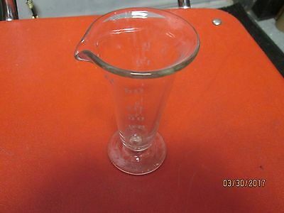 Apothecary Glass Etched Measuring Cup - Vintage