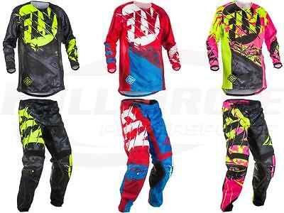 Fly Racing Kinetic Outlaw Jersey Pant Combo Set MX Riding Gear MX/ATV/BMX 2018